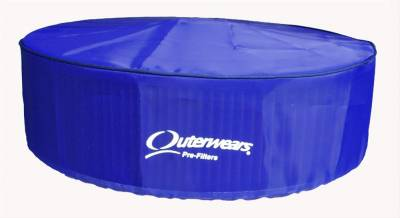 """Air Filters & Cold Air Intakes - Pre Filters - Outerwears Co Inc - Outerwears Co Inc 10-1014-02 14"""" x 4"""" Air Cleaner Pre-Filter w/ Top - Blue"""