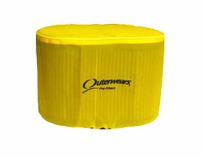 Air Filters & Cold Air Intakes - Pre Filters - Outerwears Co Inc - Outerwears Co Inc 10-1031-04 Kinsler/K&N KD-5000 Series Pre-Filter - Yellow