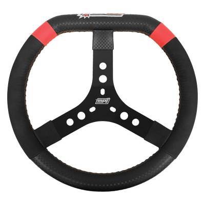 "MPI Steering Wheels - MPI MPI-KD-14-A D Shaped Steering Wheel 2"" Dish 14"" Diameter For Dirt Karting"