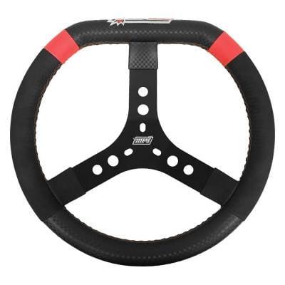 """Steering - Steering Wheels, Quick Releases & Hubs - MPI Steering Wheels - MPI MPI-KD-14-A D Shaped Steering Wheel 2"""" Dish 14"""" Diameter For Dirt Karting"""