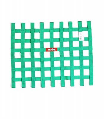 """Safety & Seats - Seat Belts, Safety Harnesses, Window Nets & Components - Racequip - RaceQuip 725075 Green 18"""" x 24"""" Ribbon Style Race Car Window Net (SFI 27.1 Certified)"""