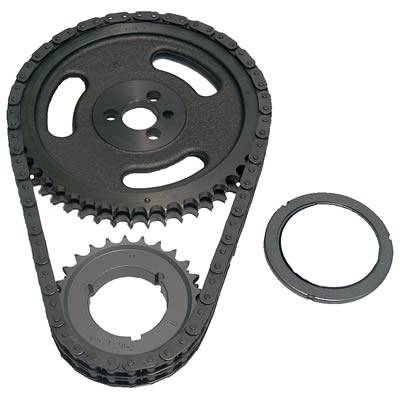 Valvetrain & Camshaft Components - Timing Chain Sets - Cloyes - Cloyes 9-3100AZ SBC Hex-A-Just Z-Racing Series Timging Chain Set