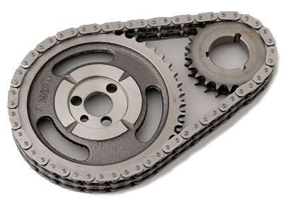 "Valvetrain & Camshaft Components - Timing Chain Sets - Cloyes - Cloyes 9-3146BZ Hex-A-Just Z Racing Series Billet True Roller Timing Chain Set SBC ""Rocket"" w/ BB Crank Snout"