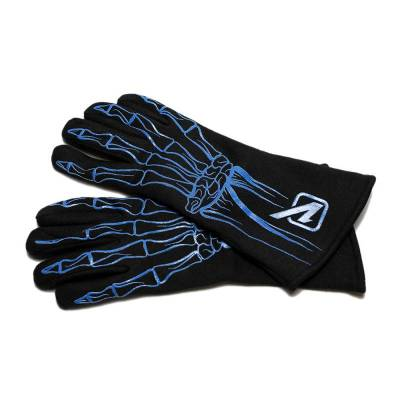 Velocita - BLUE Velocita Skeleton 2 Layer Racing Gloves