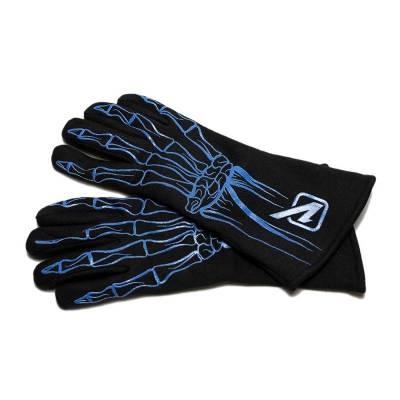 Safety & Seats - Driving Gloves - Velocita - BLUE Velocita Skeleton 2 Layer Racing Gloves