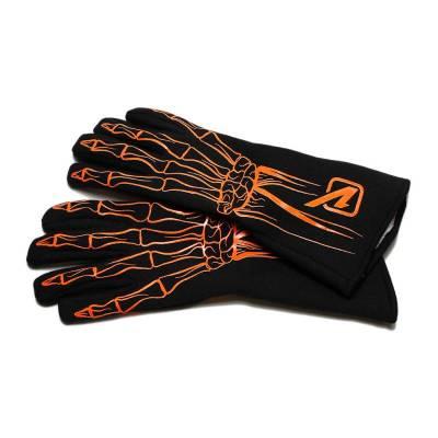 Safety & Seats - Driving Gloves - Velocita - FLO ORANGE Velocita Skeleton 2 Layer Racing Gloves