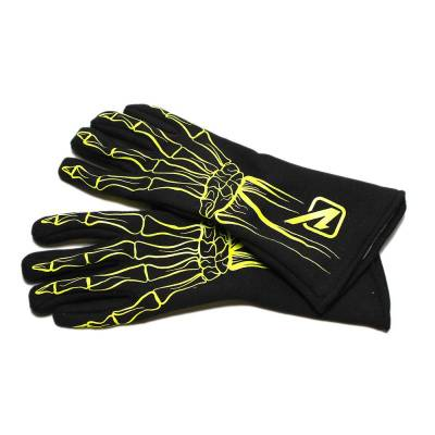 Velocita - FLO YELLOW Velocita Skeleton 2 Layer Racing Gloves
