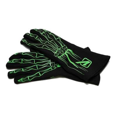 Velocita - FLO GREEN Velocita Skeleton 2 Layer Racing Gloves