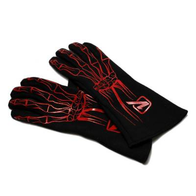 Velocita - RED Velocita Skeleton 2 Layer Racing Gloves