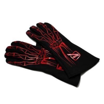 Safety & Seats - Driving Gloves - Velocita - RED Velocita Skeleton 2 Layer Racing Gloves