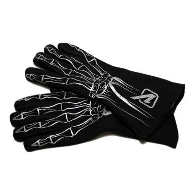 Velocita - SILVER Velocita Skeleton 2 Layer Racing Gloves