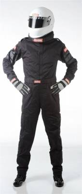 Driving Suits - Racequip Single Layer Suits - Racequip - Single Layer Black XL 110 Series SFI-1 Racing Suit