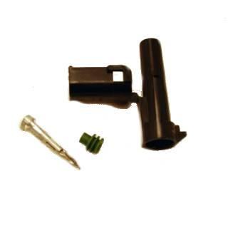 Ignition & Electrical - Wire Loom & Routing Kits - American Autowire - American Autowire 500321 Male 1 Way Weather-Pac Connector