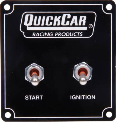 Quick Car - Quick Car 50-750 Extreme Dash Mount 2 Switch Panel W/Pigtail Ignition & Start