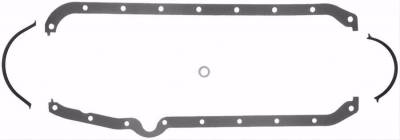 Engine Gaskets - Oil Pan Gaskets - Fel-Pro Gaskets - FEL-Pro 1803 Rubber Coated Oil Pan Gasket - SBC 1975-1987 LH Dipstick