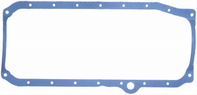 Engine Gaskets - Oil Pan Gaskets - Fel-Pro Gaskets - FEL-Pro 1-Piece Rubber Oil Pan Gasket 86-97 SBC 1 Piece Rear Main Thick Front Seal RH Dipstick