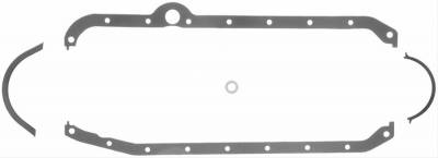 Oil Pans & Components - Oil Pan Gasket - Fel-Pro Gaskets - Fel-Pro Oil Pan Gaskets SBC 1980-1985 RH Dipstick Thick front seal