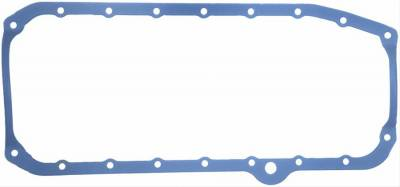 Engine Gaskets - Oil Pan Gaskets - Fel-Pro Gaskets - Fel-Pro 1-Piece Rubber Oil Pan Gasket 1980-1985 SBC RH Dipstick w/ Steel Core 2-Piece Rear Main
