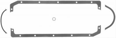 Oil Pans & Components - Oil Pan Gasket - Fel-Pro Gaskets - Fel-Pro Rubber Coated Oil Pan Gasket Set Oldsmobile Rocket Dart Iron Eagle & GM Aluminum Block Steel Core