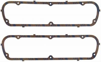 Engine Gaskets - Valve Cover Gaskets - Fel-Pro Gaskets - Fel-Pro 1613 Valve Cover Gaskets Ford 302/351W Blue Strip Cork-Rubber
