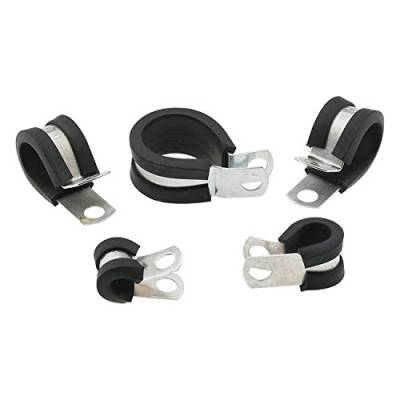 """Fittings & Hoses - Steel Braided Hose - Fragola - 1/4"""" Padded Line Clamps- 10 Pack"""