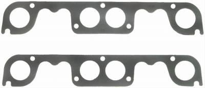 Headers & Exhaust  - Exhaust Manifold & Header Gaskets - Fel-Pro Gaskets - FEL-Pro 1409 Exhaust Manifold Header Gaskets SBC Round Spread Port