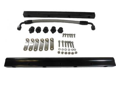 Fuel Injection  - Fuel Rails - Racing Power Company  - RPC R5465BK LS3 L92 LS Series Billet Aluminum Fuel Rails - Black