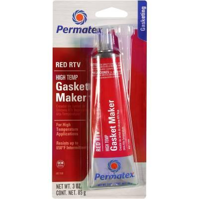 Engine Gaskets - Gasket Sealers - Permatex - Permatex 81160 High-Temp Red Gasket Maker & Sealer -3 oz Tube