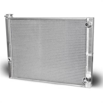 """Cooling - Radiators - AFCO - AFCO 80100-NDP-16 Double Pass Radiator 19""""X22""""  -16AN Inlet"""