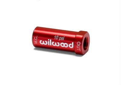Wilwood - Wilwood 260-13707 Red Aluminum Residual Brake Pressure Valve 10 PSI