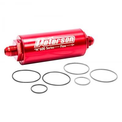 Fuel System & Components - Fuel Filters - Peterson Fluid Systems - Peterson Fluid Systems 09-0617 60 Micron Fuel Filter - -8AN Ends