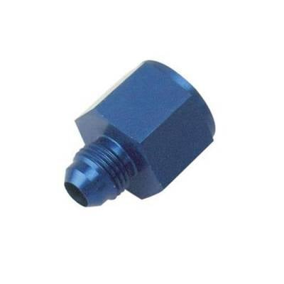 Aluminum AN Fittings - AN Female to AN Male Reducer - KMJ Performance Parts - -10 Female to -8 AN Male Reducer Adapter Fitting
