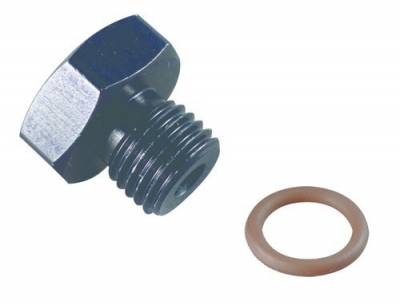Aluminum AN Fittings - O-Ring AN Plug - Fragola - -3 PORT PLUG 3/8-24 BLK