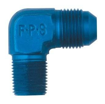 Aluminum AN Fittings - 90 Degree Male Elbow AN to Pipe Fittings - Fragola - -10 X 3/8MPT 90 DEG