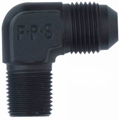 Aluminum AN Fittings - 90 Degree Male Elbow AN to Pipe Fittings - Fragola - -8 X 3/4 MPT 90 DEG BLACK