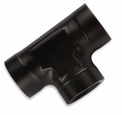 Aluminum AN Fittings - Female Pipe Tee Fittings - Fragola - 1/8 FEMALE PIPE TEE BLK