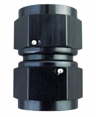Aluminum AN Fittings - Female Flare Swivel Fittings - Fragola - -3 FEMALE CONNECTOR BLK