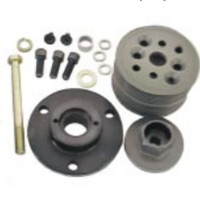 KRC Power Steering - KRC Block Mount Serpentine Kit-Missing Lower Pulley & Belt-Sold as is!