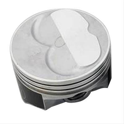 Speed Pro - SBC SMALL BLOCK CHEVY 400 Speed Pro .100 Dome Pistons 4.155 Bore 2 Valve Relief