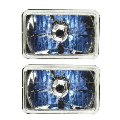 "Lights & Lighting - Headlights, Taillights & Accessories - Racing Power Company  - RPC R7435 6"" x 4"" Square Headlight Housings w/ H4 Bulb Upgrade (Pair)"