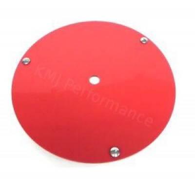 "Bassett Wheel - Bassett 3PLGR 15"" Beadlock Race Wheel Cover (Mud Plug) Red Plastic IMCA USRA UMP"