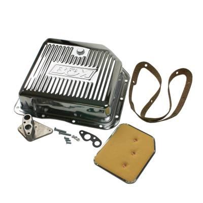 Transmission & Drivetrain - Transmission Oil Pan & Components - B & M - B&M 30289 Chrome Steel GM Turbo 350 TH350 Deep Transmission Pan +3 Quarts Extra