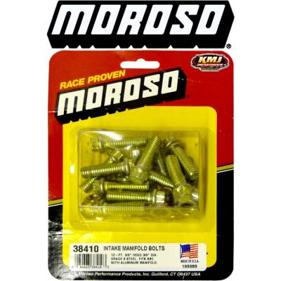 Moroso - Moroso 38410 Big Block Chevy Dual Plane Intake Manifold Bolt Kit 396 427 454 BBC