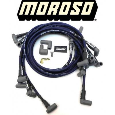 Spark Plugs and Spark Plug Wires - Spark Plug Wires - Moroso - Moroso 73607 Ultra 40 Sleeved Spark Plug Wires SBC Chevy 350 Under Header HEI