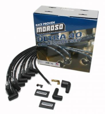 Moroso 73712 Black Ultra 40 Race Spark Plug Wires Big Block Chevy HEI 396 454