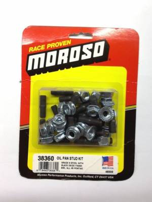 Oil Pans & Components - Oil Pan Bolts - Moroso - Moroso 38360 Oil Pan Stud Fastener Kit BBC Big Block Chevy 454 & Pontiac V8 455