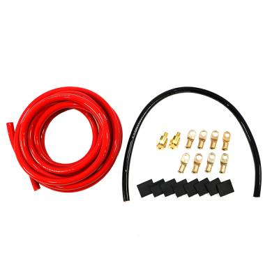 Quick Car - 'QuickCar 57-011 Battery Cable Kit 2 AWG Side Mount w/ 15'' Red & 2'' Black Wire'
