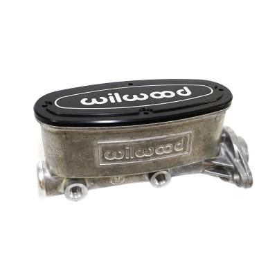 "Wilwood - Wilwood 260-8555 High Volume Aluminum Tandem Master Cylinder 1"" Bore Street Rod"