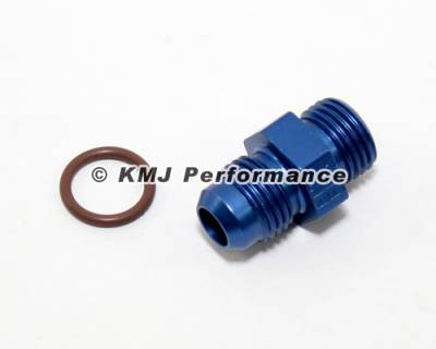 Fittings & Hoses - O-Ring Fittings - Fragola - Fragola 495100 -6 AN Radius to 9/16-18 Male O-Ring Fitting IMCA USRA NHRA