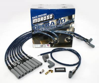 Spark Plugs and Spark Plug Wires - Spark Plug Wires - Moroso - Moroso 73668 Ultra 40 Spark Plug Wires Chevy Big Block BBC HEI Distributors 454